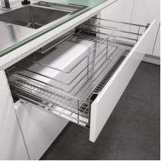 Висувна корзина під мийку VS SUB Sink К900ТА, сапфір хром