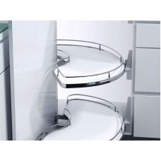 Кутова шафа Slide Corner, К600, права, білий хром
