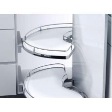Кутова шафа Slide Corner, К600, ліва, білий хром