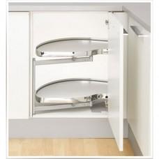 Кутова шафа Twin Basic, К450, ліва, білий хром