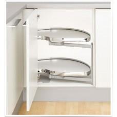 Кутова шафа Twin Basic, К450, права, білий хром